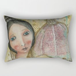 Florentine lady and the Brunelleschi dome Rectangular Pillow