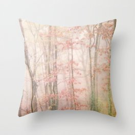 Pink Forest Throw Pillow