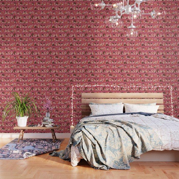 Quirky Swirls Wallpaper