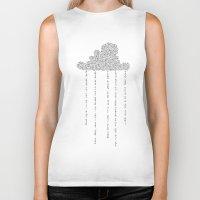 cloud Biker Tanks featuring Cloud by RAGAN ILLUSTRATION