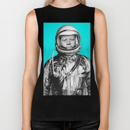 "JFK ASTRONAUT (or ""All Systems Are JFK"") Biker Tank"
