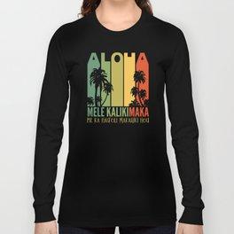 Mele Kalikimaka Aloha Hawaii Christmas Long Sleeve T-shirt