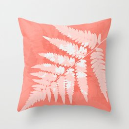 From the forest - light coral Throw Pillow