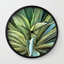 Tropical Agave Wall Clock