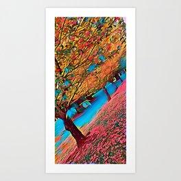 Shedding Trees Art Print