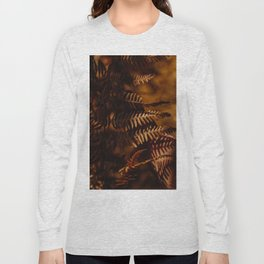 Autumn Fern Tree Leaf Brown Coffee Color Long Sleeve T-shirt