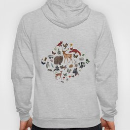 Wild Woodland Animals Hoody