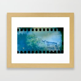 House panorama with Film Perforation in Kyiv, Ukraine Framed Art Print