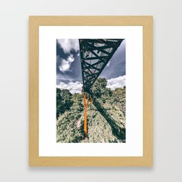 Walking on Tree Tops Framed Art Print