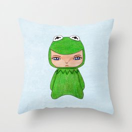 A Boy - Kermit the frog Throw Pillow