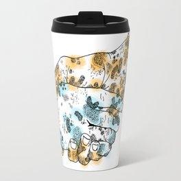 Microscopic Handshake Travel Mug
