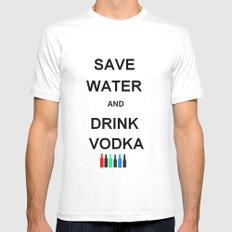 Drink Vodka MEDIUM White Mens Fitted Tee