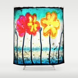 Flowers by James Eye Shower Curtain