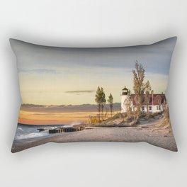 Point Betsie Lighthouse at Sunset Rectangular Pillow