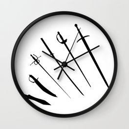 Sword Silhouettes Wall Clock