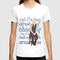 glee T-shirts featuring Brittana - Glee - Brittany Pierce [Solo] Landslide typography minimalist design by Hrern1313