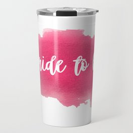 Bride to be - watercolour lettering Travel Mug