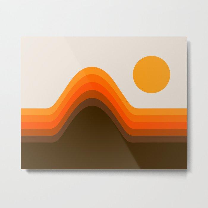 Golden Horizon Diptych - Left Side Metal Print