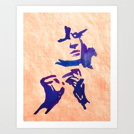 Caresses Art Print