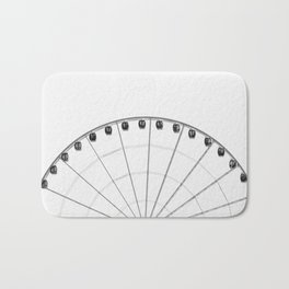 The wheel back white 1 Bath Mat