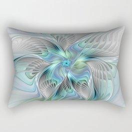 Abstract Butterfly, Fantasy Fractal Art Rectangular Pillow