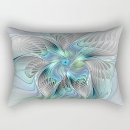 Abstract Butterfly, Fantasy Fractal Art Rectangular Pillow