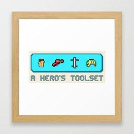 A Hero's Toolset Framed Art Print