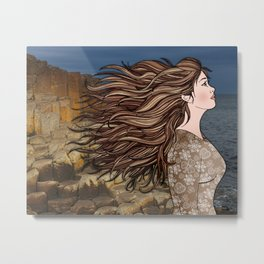 Fionnuala at The Giant's Causeway Metal Print