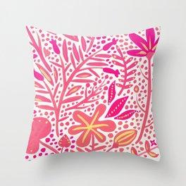 Garden – Pink Palette Throw Pillow