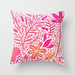 Garden – Pink Palette Throw Pillow