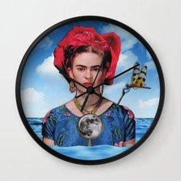 Blue Frida Wall Clock