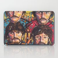 yellow submarine iPad Cases featuring Yellow Submarine by somanypossibilities