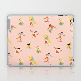 Skateboarding in California of 70s Laptop & iPad Skin