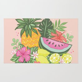Tropical Summer Cluster Rug