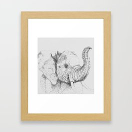 Dotted Elephant Framed Art Print