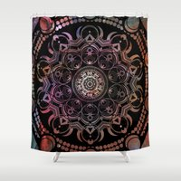 chakra Shower Curtains featuring CHAKRA by Spectronium - Art by Pat McWain
