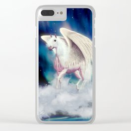PEGASUS RISING Clear iPhone Case