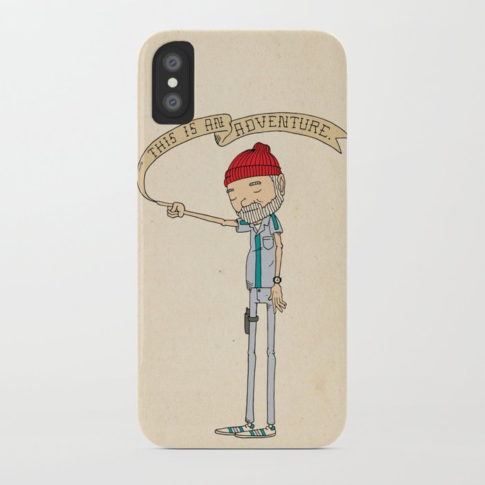 """THIS IS AN ADVENTURE."" - Zissou iPhone Case"