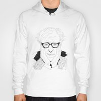 woody allen Hoodies featuring Woody Allen by lena kuzina