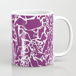 Purple White Lines Coffee Mug