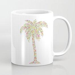 Palm Tree Floral Watercolor Coffee Mug
