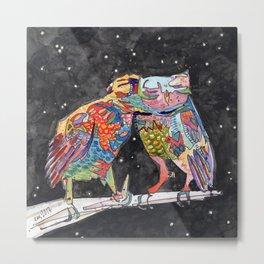 Magic Owl Lovers Metal Print