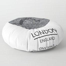 London map print drawing england Floor Pillow
