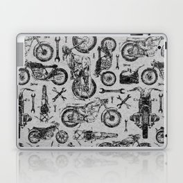 Vintage Motorcycle Pattern Laptop & iPad Skin