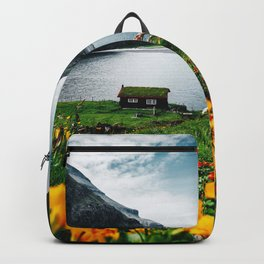cottage at faroe Backpack