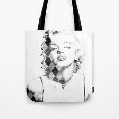 Marilyn Monroe Black and White Checkered Tote Bag