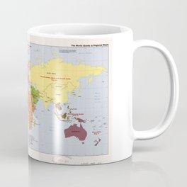World Political Regional Map (1985) Coffee Mug