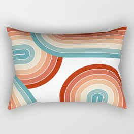 Colorful retro arches Rectangular Pillow