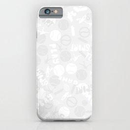 Tennis. Grey Pattern. iPhone Case
