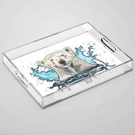 Polar bear Acrylic Tray